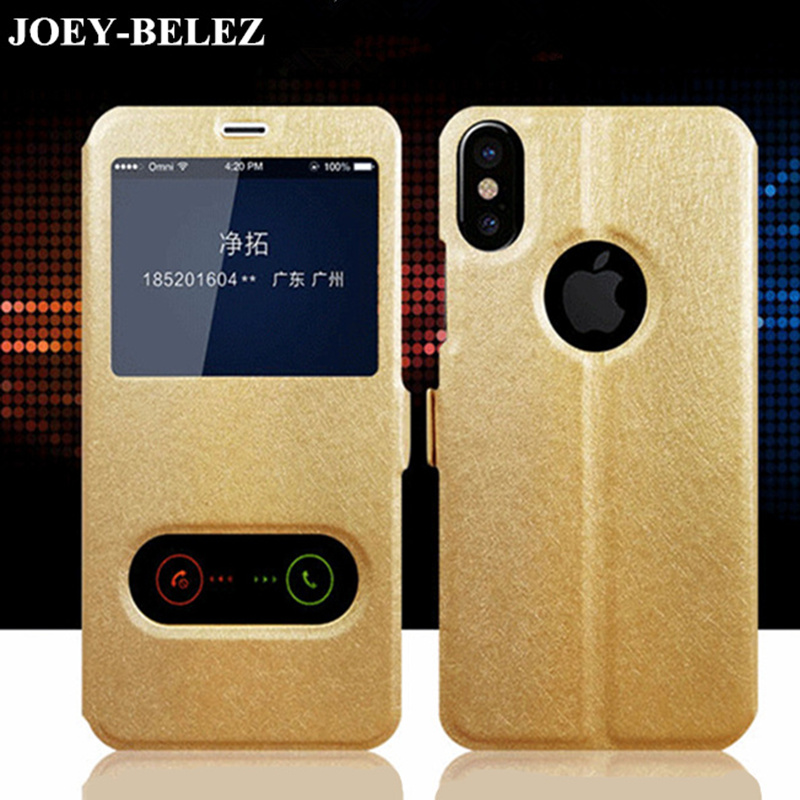 JOEY-BELEZ Luxury Leather Flip Case for iPhone X Flip Cover for iPhone X Case 10 for iPhone X 2017 5.8 Phone Cases Hoesje Coque(China)