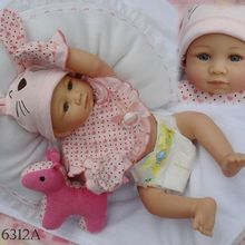 20inch Full Silicone Waterproof Reborn Baby Alive Lifelike Cute Bunny Girl Vinyl Dolls Kits for Kids Toys Gift