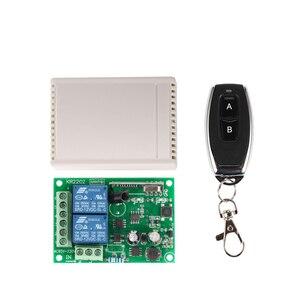 Image 1 - 433 Mhz universel sans fil commutateur de télécommande ca 85V ~ 250V 110V 220V 2CH relais récepteur Module et RF 433 Mhz télécommandes