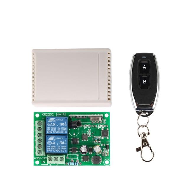 433 Mhz universel sans fil commutateur de télécommande ca 85V ~ 250V 110V 220V 2CH relais récepteur Module et RF 433 Mhz télécommandes