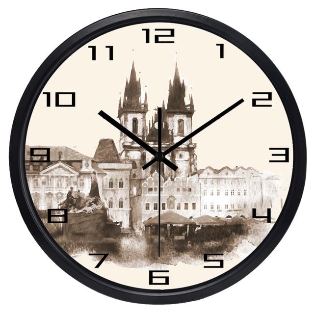 Europäische Neue Design Tickt Metall Wohnzimmer Jahrgang Schloss Wanduhr  Neuheit Hard Art Home Uhr