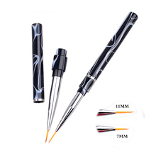 1 piece Nail Art Brush Pen Marbleizing Handle Painting Tool Line Manicure Tools 7mm/11mm