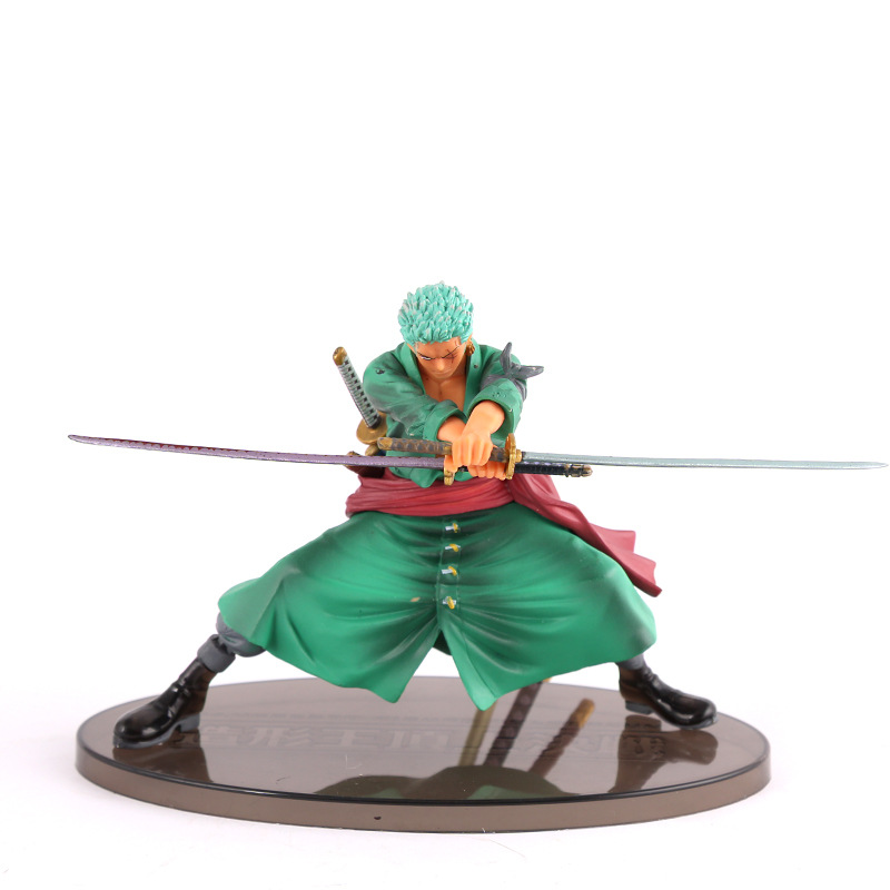 Anime One Piece 13cm Cool Decisive Battle Version One Piece Roronoa Zoro PVC Figure Toy PVC Action Figure Collection Model Toy brand new portrait of pirates one piece roronoa zoro 23cm pvc cool cartoon action figure model toy for gift kids free shipping