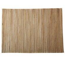33*48cm Bamboo Rectangular Straw Curtain Table Cushion Tea Cup Pads Bowl Pot Plate Mats