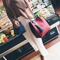 Mulheres Casual Faux PU couro Balde bolsa de Ombro Bolsa de Senhoras Da Forma de Lazer Crossbody Sacos de Composto Com Uma Pequena Bolsa Com Zíper