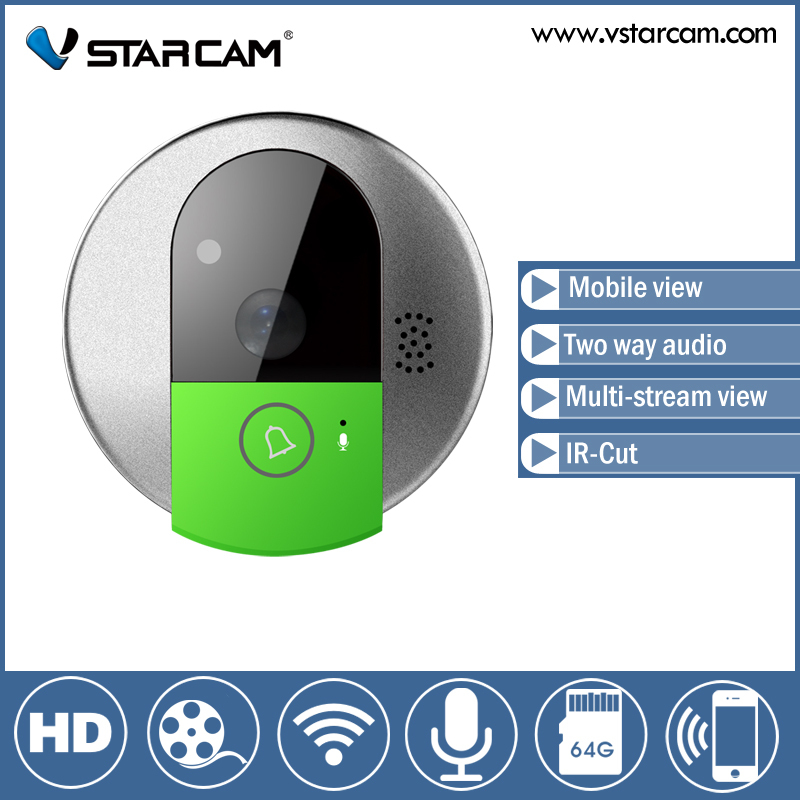 Free shipping Vstarcam C95 WIFI Doorcam HD 720P CMOS Sensor Wireless Doorbell Two Way Audio/Video/Mobile View IP Indoor Camera