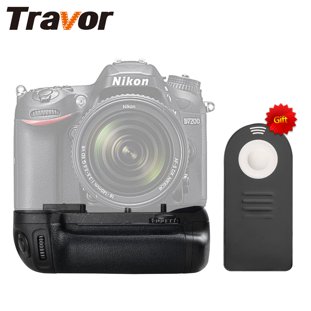 лучшая цена Travor Professional Battery Grip For Nikon D7100 D7200 Replacement MB-D15 with Wireless remote control as a gift for free