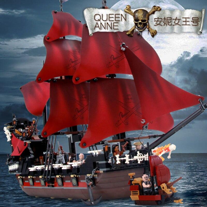 1097 piezas. Juguetes para niños, bloques de construcción de piratas, modelo de diana de la Reina del Caribe, Compatible con la famosa ciudad de la marca-in Bloques from Juguetes y pasatiempos    1