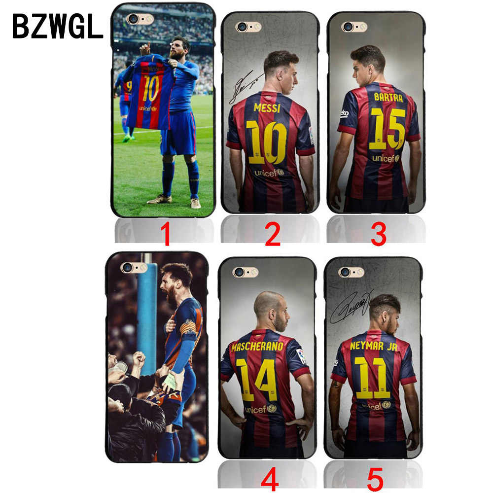 8a5611612 BZWGL for Barcelona Lionel Messi Bar FOOTBALL Case for iPhone 5 5S se 6 6S 7