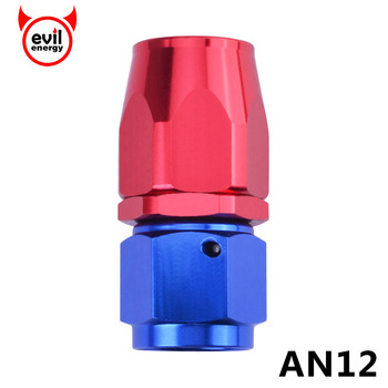 evil energy AN12 Straigh Oil Fuel Swivel Hose End Fittings AN Fittings Adapter Oil Fuel Reusable Fitting Hose Male Fitting image