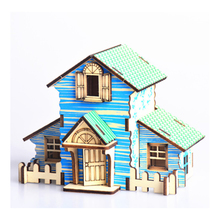 DIY Model toys 3D Wooden Puzzle-Forest hut Wooden Kits Model Educational Puzzle Game Assembling Toys Gift for Kids Adult P2 цены онлайн