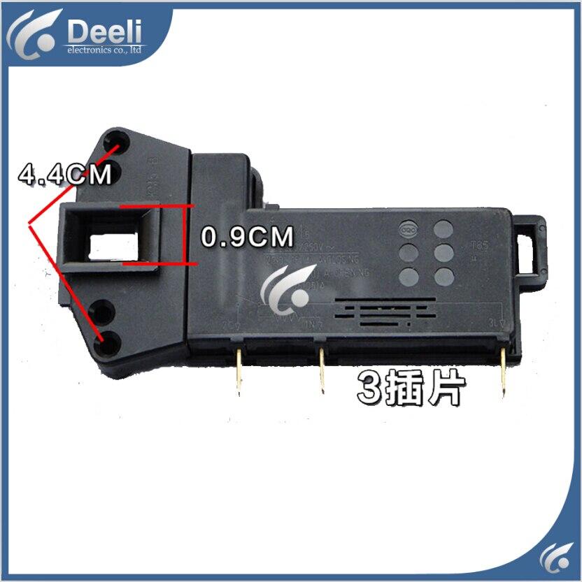 все цены на Free shipping Original for Siemens washing machine electronic door lock delay switch WD9100 9110 8085 8088 8055 door lock 3 plug онлайн