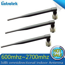 3pcs/lot 3dBi omnidirectional indoor Whip 800mhz to2200hz GSM 3G WCDMA booster antenna Antenna N Type Connector repeater