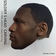 1/6 Michael Jordan Head Sculpt for Custom Rookie 12 Hot Toys Enterbay Figure Body