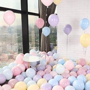 Image 3 - 30 יח\חבילה לערבב צבע Macaron בלוני חתונת מסיבת יום הולדת 2.2g ורוד מנטה עלה אוויר הליום לטקס חתונה דקור Balon תינוק מקלחת