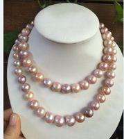 Очаровательное 12 мм натуральный пресноводный многоцветный Касуми жемчужное ожерелье 38 дюймов 925 серебро