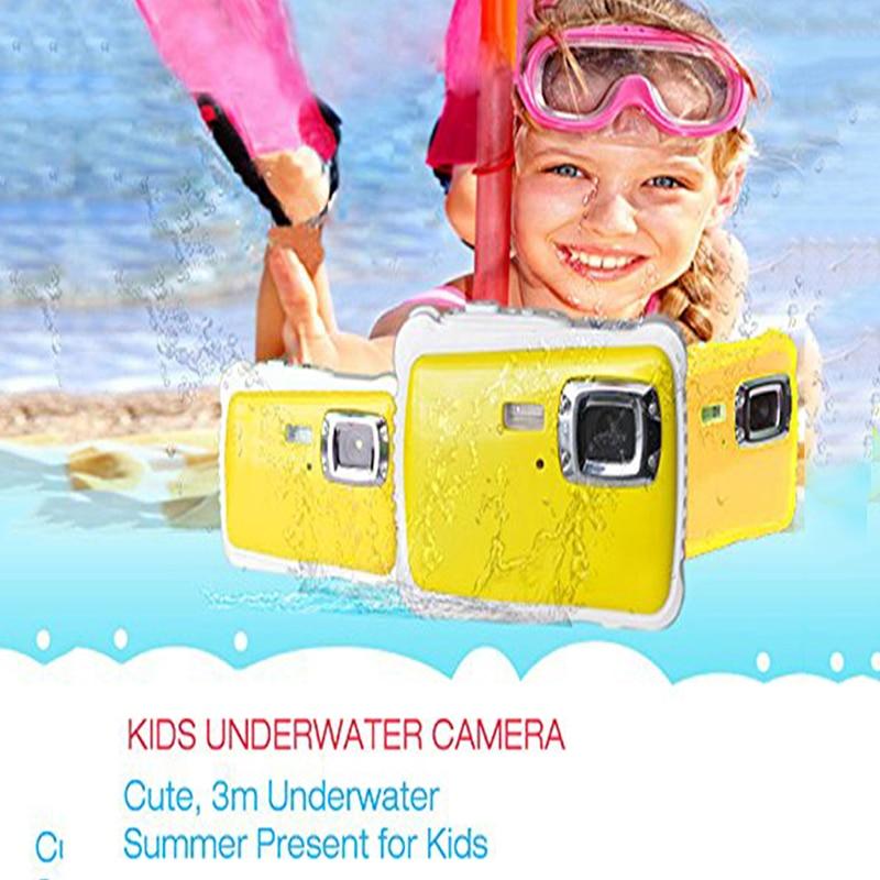 Mini 2 дюйм(ов) Full HD 720 P цифровой зеркальной Камера 120 градусов Широкий формат для Для детей игрушка в подарок Водонепроницаемый пыле дети камер