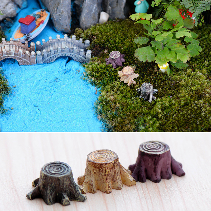 New Crafts Decorations Miniature Multicolour Tree Stump Fairy Terrarium Christmas Xmas Party Garden-in Figurines & Miniatures from Home & Garden on Aliexpress.com | Alibaba Group