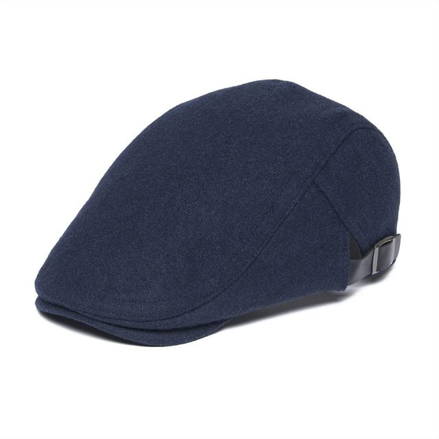 edb9eaa40e1d2 VOBOOM lana Tweed Ivy tapa vendedor gorras gorra ajustable papá Boina hombre  Gatsby ajustable sombreros azul marino