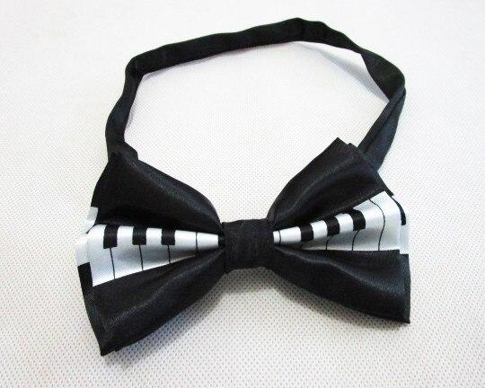 Новая мода Мужская черный рояль клавиатуры Bowties для мужские