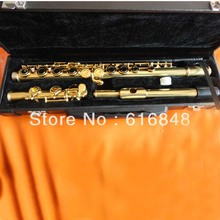 Flute Students Necessary 16 Holes Plus The E key Gold Plated Flute Professional Musical Instruments Western Concert Hot Selling