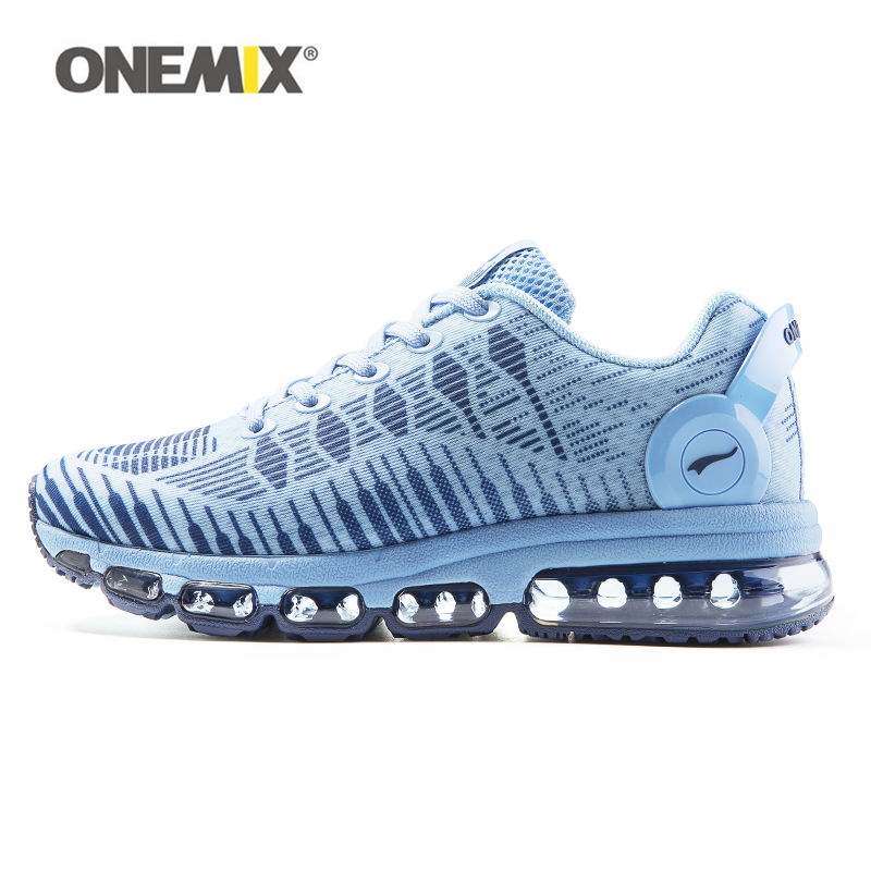 2017 Onemix Men& women new arrive light-wearing sport sneakers breathable mesh lace-up waliking shoes Air cushion running shoes