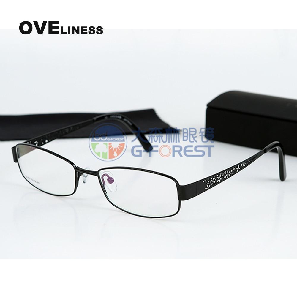 f9123377d853 Prescription glasses Oval eyeglasses frame women Pure titanium frames Ultra  light Spectacles frame myopia glasses oculos de grau