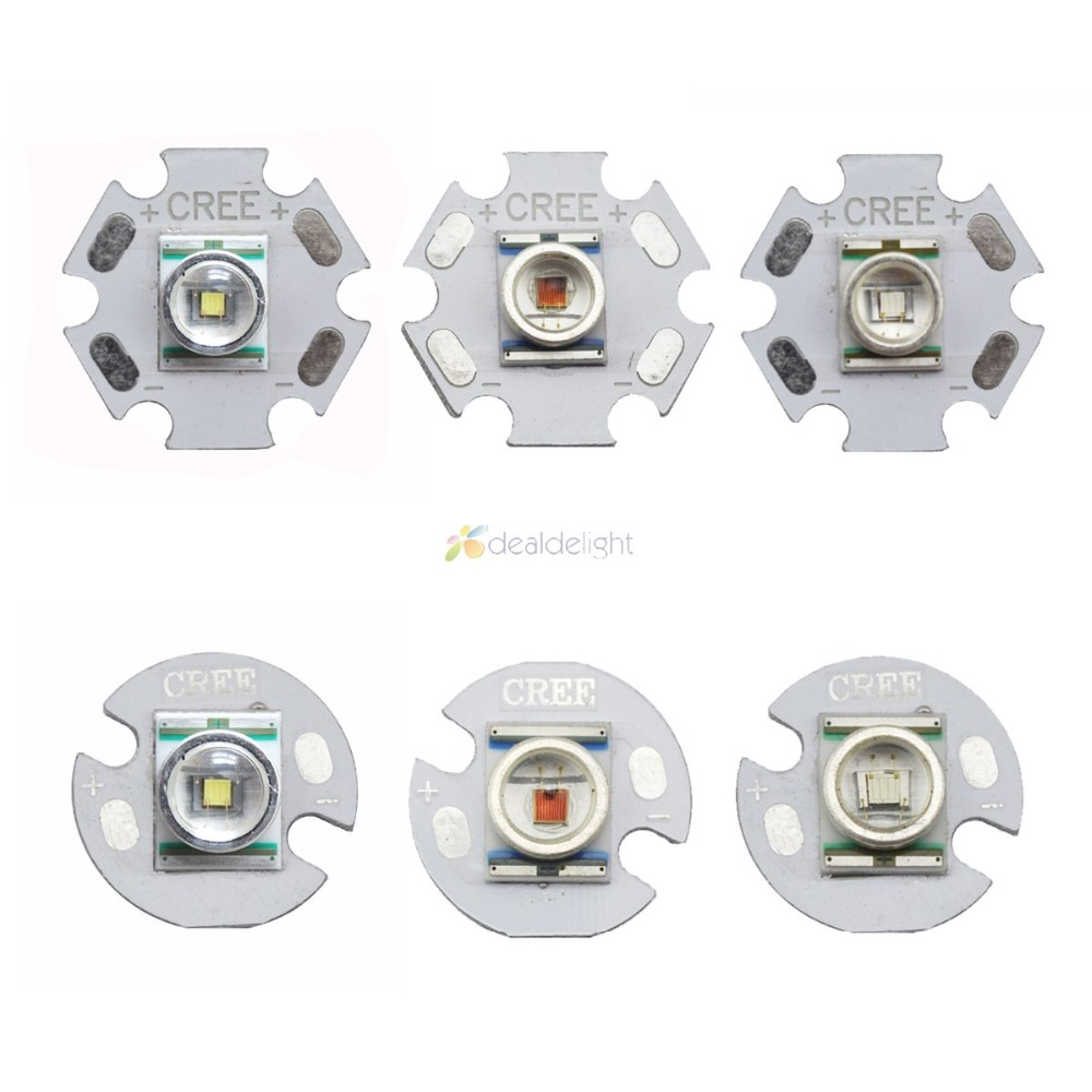 10PCS 10PCS Cree XR-E Q5 Warm White Red Blue Green Yellow High Power LED Light XRE 16mm Or 20mm For Torch FlashLight