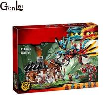 GonLeI 1173pcs Ninja New 10584 Dragon s Forge DIY Model Building Kit Blocks Gifts Toys