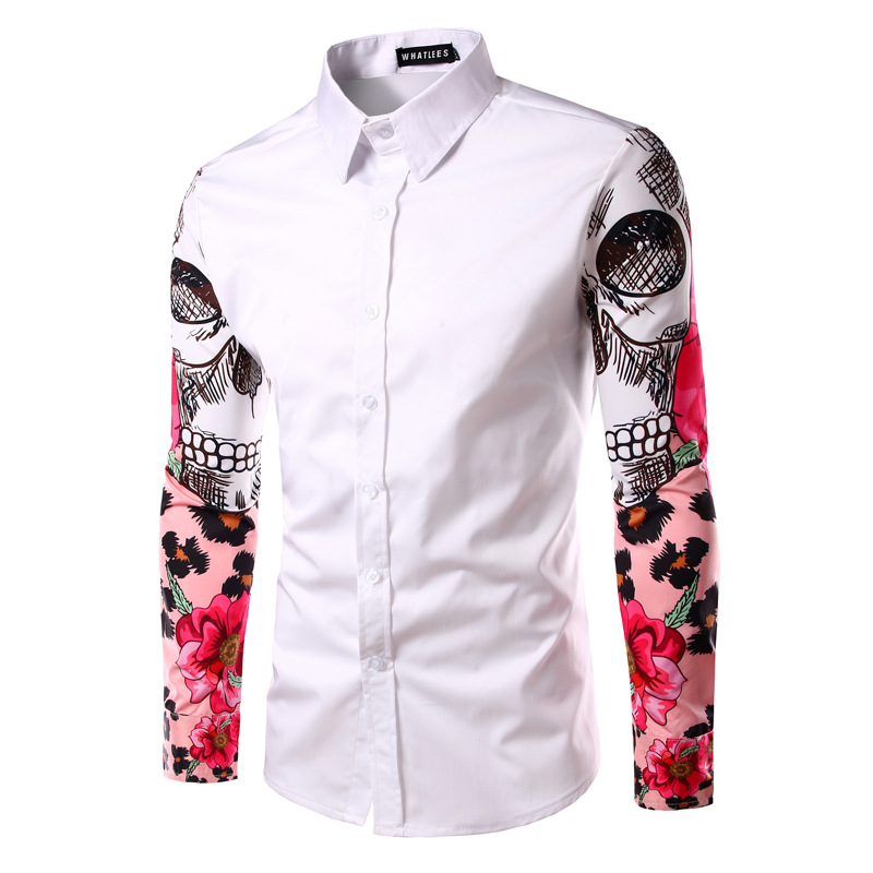 Online Get Cheap Skull Dress Shirts for Men -Aliexpress.com ...