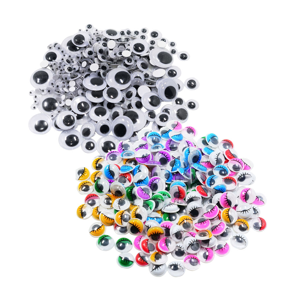 12 Pieces 2 Self-Adhesive Wiggly Eyes Googly Eyes for Craft Decorations Wiggle Googly Eyes for DIY Projects Arts and Craft Supplies