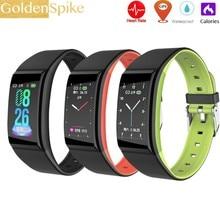 2019 New Portable Waterproof Touch Screen Smartwatch Smart Band Watch Heart Rate Time Wristband Sport Running Bracelet