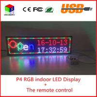 The Remote Control Indoor Full Color Scrolling Text Display Screen 6 By 21 P4 Indoor RGB
