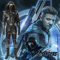S 3XL Avengers 4 Endgame Clinton Barton Hawkeye Cosplay Costume Men Battle Suit +Accessories Halloween Christmas Carnival Party