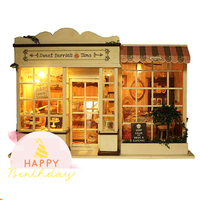 Sweet Berries Time Assemble DIY Doll House With Furniture 3D Wooden Handcraft Doll house Toys for Children Birthday Gifts House