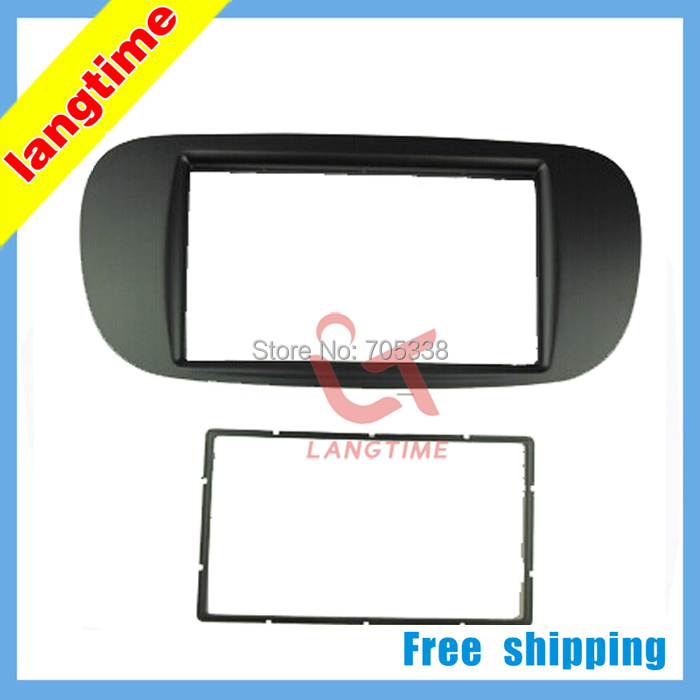 ФОТО Free shipping-Car refitting DVD frame,DVD panel,Dash Kit,Fascia,Radio Frame,Audio frame for  2011Fiat 500, 2DIN