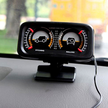 Car Auto Compass adjustable Balance Meter Slope Indicator Land Meter with LED Light For Off-Road Vehicle SUV Guide  ball