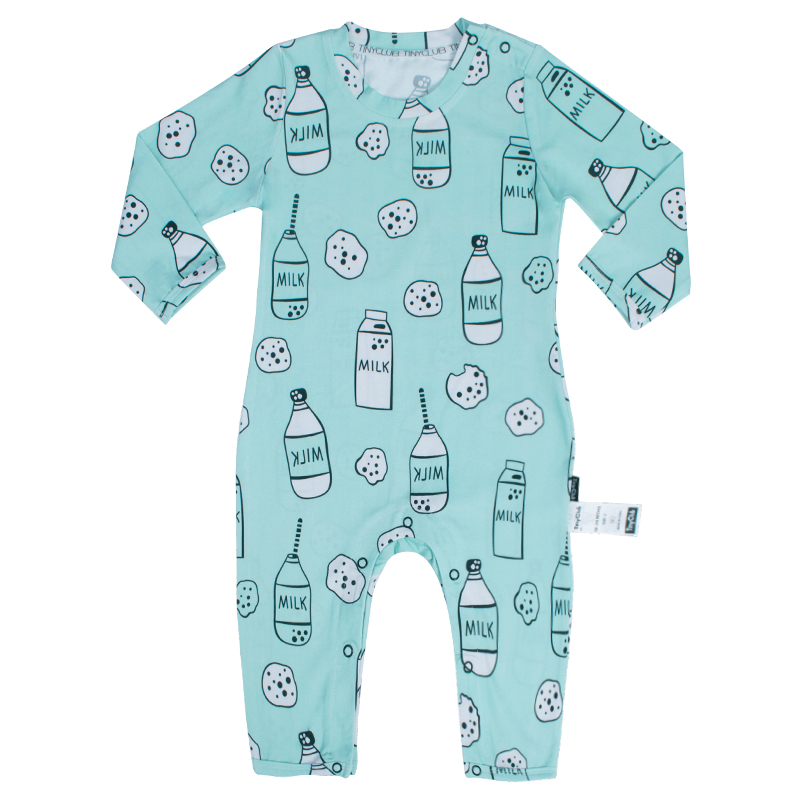 fcf058508 Milk Bottle Onesie Rompers Tiny Cottons Newborn Boys Romper Girls Clothes  Dog Print Infant Baby ClothingLong Sleeved Jumpsuit-in Rompers from Mother  & Kids ...
