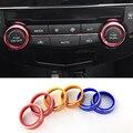 2016 New Car Styling 2 UNIDS/SET AC Aire Acondicionado perilla del Interruptor de Control de Calor Perilla Para Nissan X-trail alta Calidad 2014-2016