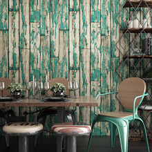 Imitation wood grain wallpaper Retro nostalgic texture color wallsticker 3d industrial style loft background PVC
