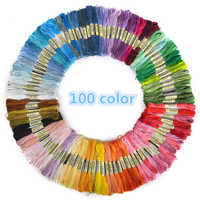 100pcs Mix Colors Cross Stitch Cotton Sewing Skeins Embroidery Thread Floss Kit DIY Sewing Tools