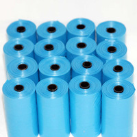 Blue 40 Rolls Pet Poop Bags Dog Cat Waste Pick Up Clean Bag a Roll of 15 Bags -15
