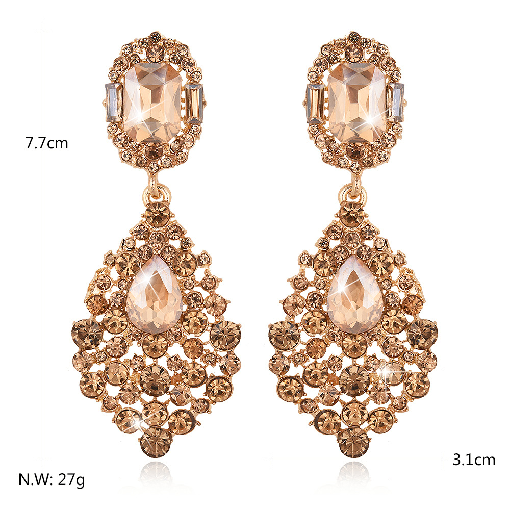 Hot sale fashion exquisite gold long chandelier earrings for women hot sale fashion exquisite gold long chandelier earrings for women wedding great water drop bridal earring with crystal e050 in drop earrings from jewelry arubaitofo Images