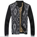 Men Spring Autumn Floral Jacket Coat Baseball Jackets Brand New Casual Fashion High Quality Cotton Slim Fit Coat F1899