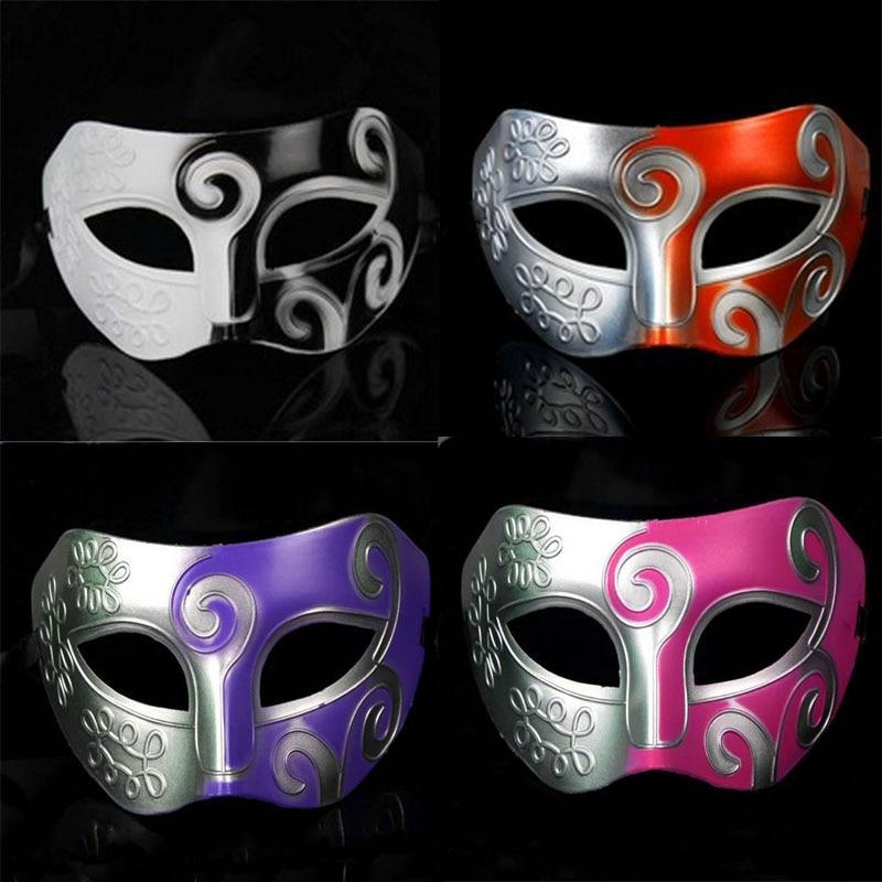 Halloween Men Greek Roman Venetian Mardi Gras Masquerade Half Face Eye Mask