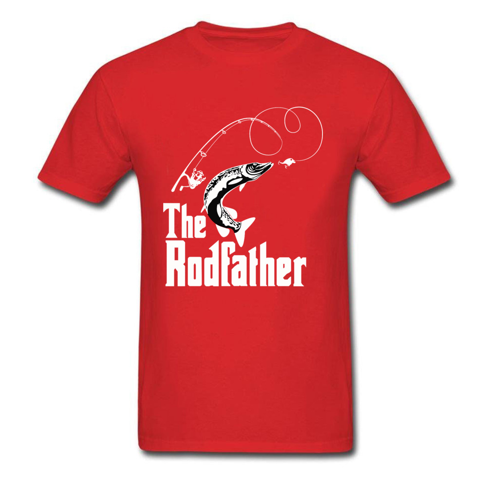 The-Rodfather Crewneck T-Shirt Lovers Day Tops Tees Short Sleeve Company 100% Cotton Design Tee-Shirts cosie Young The-Rodfather red