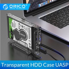 ORICO HDD Case 2.5 inch Transparent USB3.0 Hard Drive Enclosure with Stand 5Gbps USB C 10Gbps Support UASP