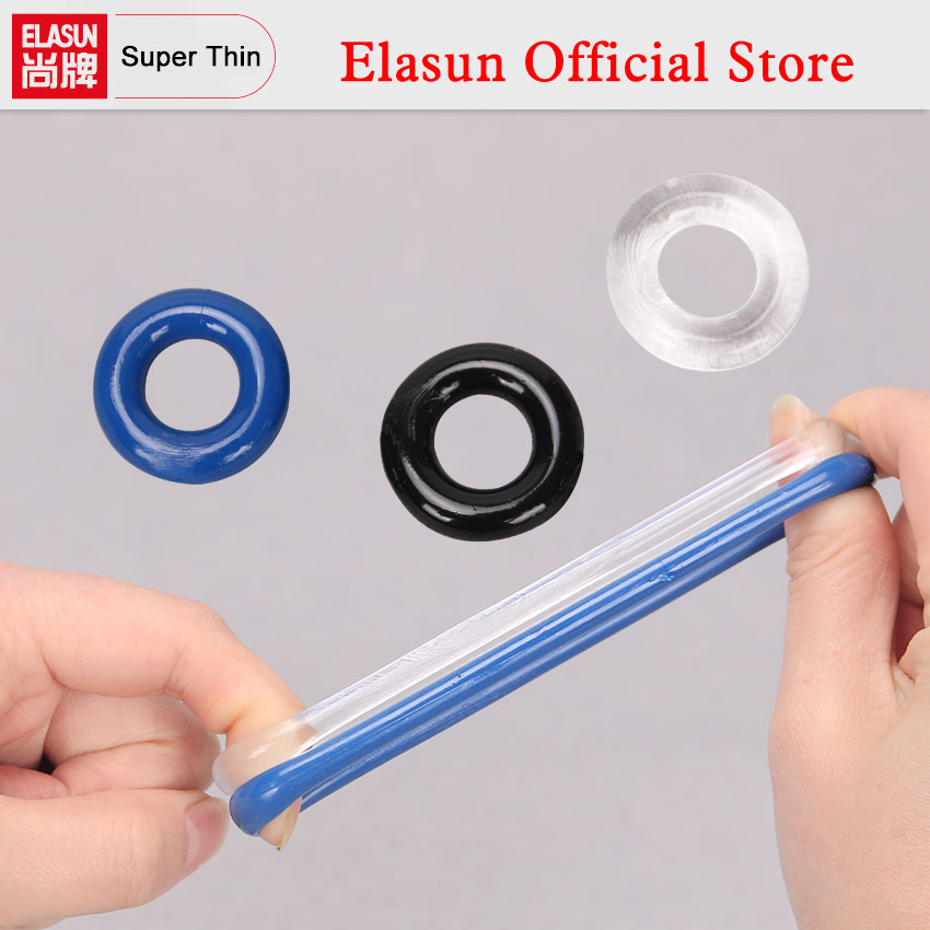 3PCS/Pack Silicone Delay Time Penis Ring Cock Rings Adult Products Male Sex Toy Flexible Stay Donuts Cock Rings Party Gift stretchy silicone sea urchin led rings 4 pack