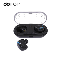 DOITOP Q18 Mini Bluetooth Earphone Hi FI Wireless Invisible Earpiece Long Playtime Car Headset Stereo with Mic For Smartphone A3