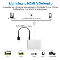hdtv דיגיטלי 4 ב 1 וידאו אודיו דיגיטלי HDTV ממיר עד שהברק VGA HDMI AV מתאם עבור iPhone -ים X 8 7 6plus בעד / אייר iPad mini / Pro (4)